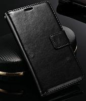 Кожаный чехол-книжка для Samsung Galaxy Note 3 N9000 N7200 черный