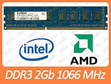 DDR3 2GB 1066 MHz (PC3-8500) різні виробники