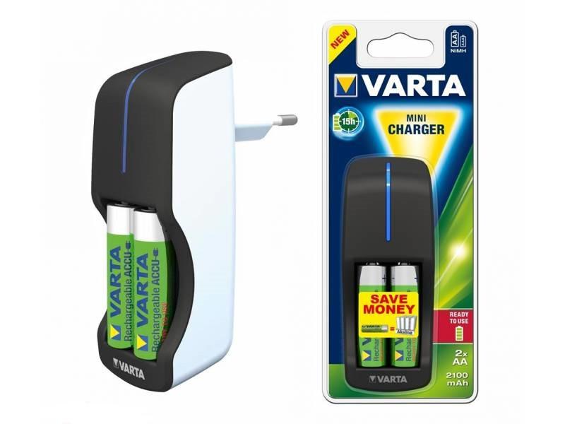 Зарядное устройство VARTA Mini + 2xAA2100mAh