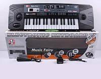 Пианино синтезатор от сети с микрофоном MQ-805USB, детский орган