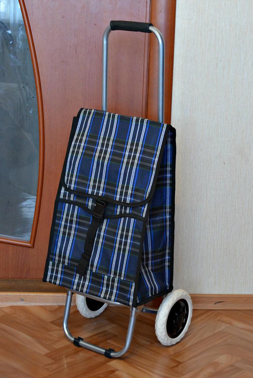 Хозяйственная сумка на БОЛЬШИХ колесах со складным МЕТАЛЛИЧЕСКИМ каркасом
