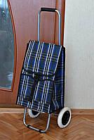 Хозяйственная сумка на БОЛЬШИХ колесах со складным МЕТАЛЛИЧЕСКИМ каркасом, фото 1