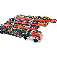 Трейлер автовоз грузовик Hot Wheels Truck Mega Hauler, Хот Вилс CKC09