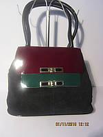 Замшевая сумка с кожаными вставками Velina Fabbiano