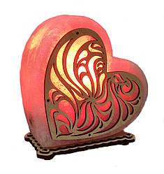 Соляний світильник Серце велике 4