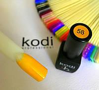 Гель лак kodi professional № 58 (желтый, эмаль) 8 мл., фото 1