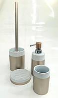 """Набор аксессуаров для ванной 4 предмета керамический """"Silk"""""""