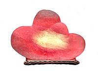Соляной светильник сердце двойное большое