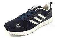 Кроссовки мужские  ADIDAS  замшевые, синие  (р.41,42,43,44,45,46)