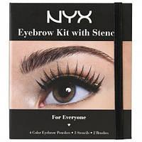 NYC EBK01 Eyebrow Kit With Stencill - Набор теней для бровей с трафаретами