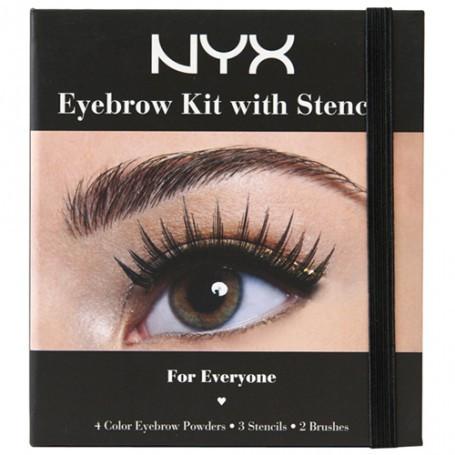 NYC EBK01 Eyebrow Kit With Stencill - Набор теней для бровей с трафаретами - Красива Я в Одессе