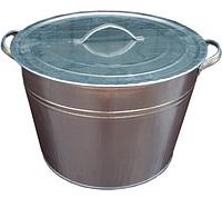 Бак оцинкованный 25 л с крышкой (набор 10 шт)