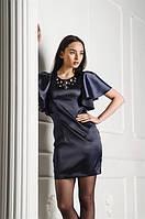 Нарядное шелковое платье, разм.46-48