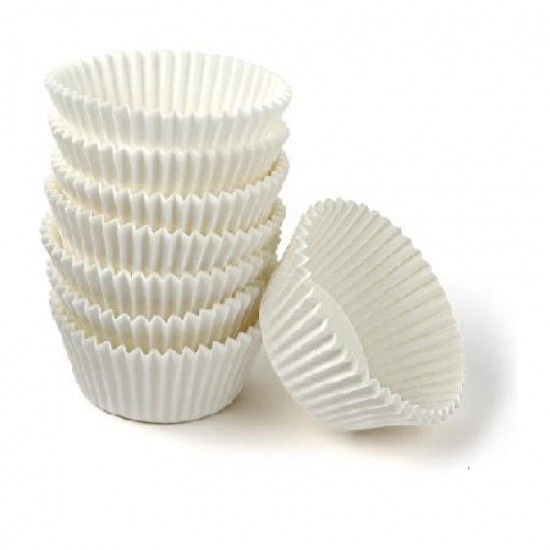 Форма белая бумажная для кексов тарталетка 500 шт.