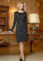 Красивое Строгое Платье Деловое Черное М-2XL
