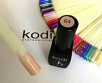 Гель лак kodi professional № 64 (полупрозрачный, персиковый, эмаль) 8 мл., фото 1