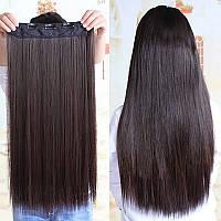 Волосы ТЕРМО на заколках тресс прядь  60см #4А