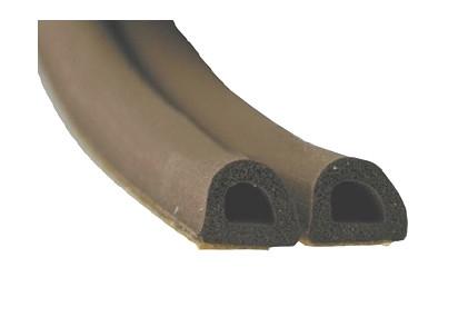 Уплотнитель самоклеющийся Stomil Sanok D100 (коричневый)