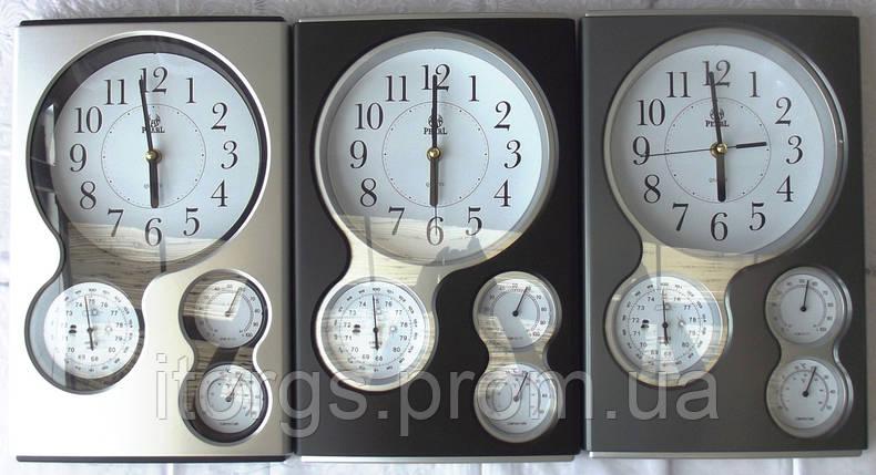 Часы  барометр гигрометр термометр PEARL Бесшумный механизм, фото 2