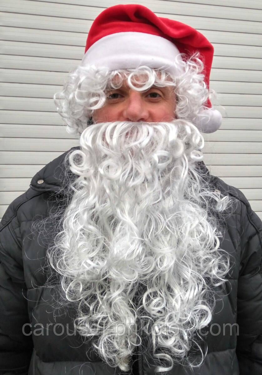 Борода і перуку і шапка діда мороза 45 див.