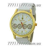 Часы мужские наручные Ferrari Maranello Quartz White-Gold-White