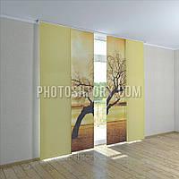 Японские фото шторы дерево