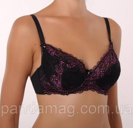 Бюстгальтер 34105 Diorella  черно-розовый 90С