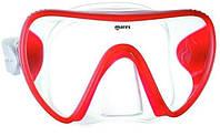 Маска для дайвинга Mares Essence LiquidSkin; прозрачный силикон; красная рамка