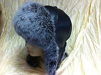 Женская  ушанка  с мехом мелированного песца