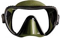 Маска для подводной охоты Mares Essence LiquidSkin; чёрно-зелёная