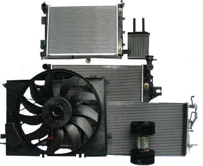 Радиаторы, вентиляторы и датчики систем охлаждения и отопления