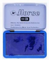Штемпельная подушка L0730-BL №3 синяя Horse уп12