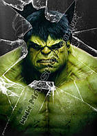 Картина 40х60 см Халк Hulk осколки