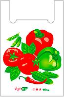 Пакеты майка 38*58 Овощи, GoodPack белый