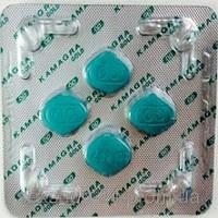 Таблетки для повышения мужского либидо Kamagra (Силденафил, Виагра) 4 таб.
