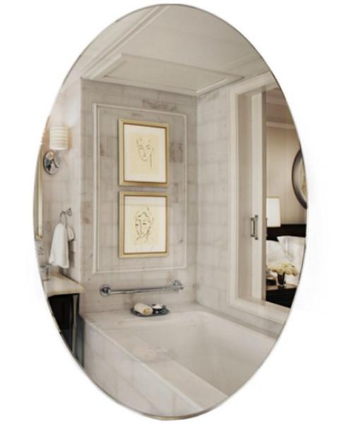 Овальная зеркало 60х40 влагостойкое