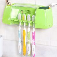 Держатель зубных щеток и пасты Morning Dew - Green