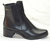 Ботинки женские кожаные весна на каблуке, женская обувь весна кожаные ботинки от производителя модель НБ1В
