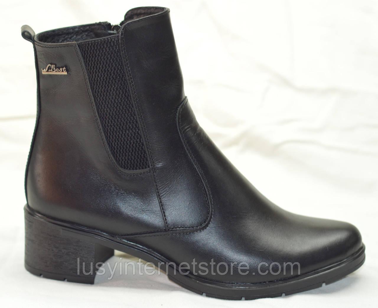 c0a1bc1a0 Ботинки женские кожаные весна на каблуке, женская обувь весна кожаные  ботинки от производителя модель НБ4В