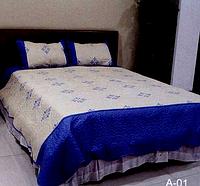 Стёганое покрывало на кровать, диван Евро размера East-Comfort