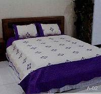 Стёганое покрывало на кровать, диван с наволочками Евро размера East Comfort
