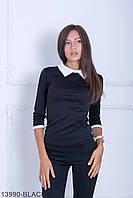 Класична чорна кофта з трикотажу Kristy