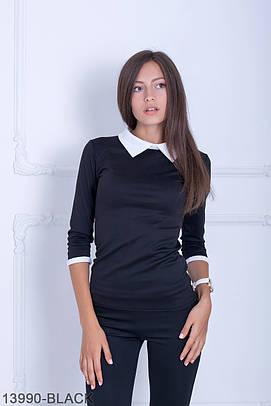 Класична чорна кофта з трикотажу Kristy (S-XXL)