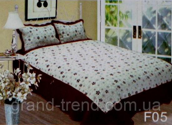 Покрывало стеганое на кровать Евро размера East Comfort с цветочками -  интернет магазин GRAND-TREND fedf6e52bcbf5