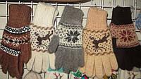 Женские перчатки из овечьей шерсти