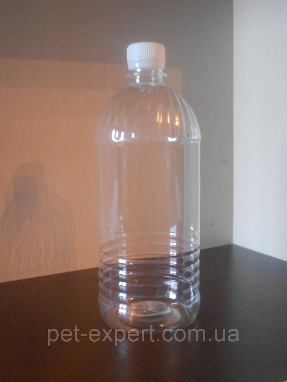 """Пластиковая пэт бутылка 1 л. """"хрусталик"""""""