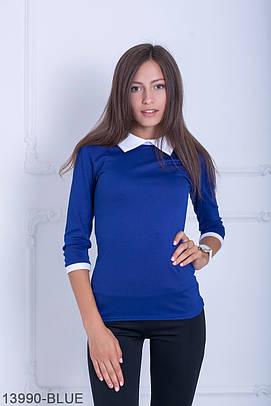 Класична синя кофта з трикотажу Kristy