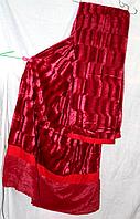 Бамбуковое меховое покрывало норка Евро размера East Comfort красного цвета
