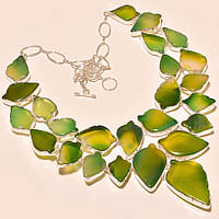 Крупное колье, ожерелье из натурального АГАТА (