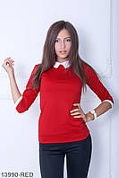 Класична червона кофта з трикотажу Kristy (S-XXL)